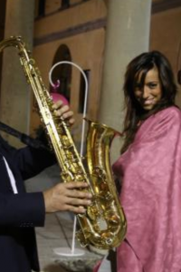 music for wedding party in Italy sax- www.valentinamey.com