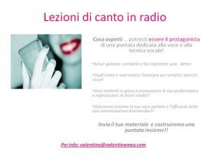 Lezioni di canto online e in RADIO Valentina Mey