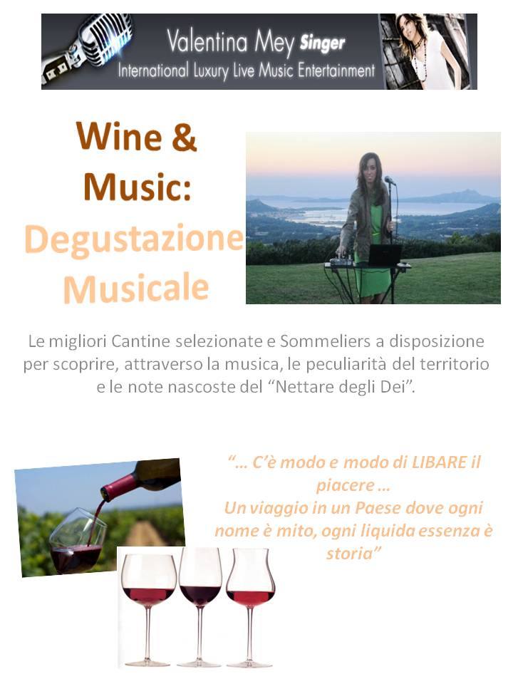 Cantante expo 2015 wine & music italian luxury experience